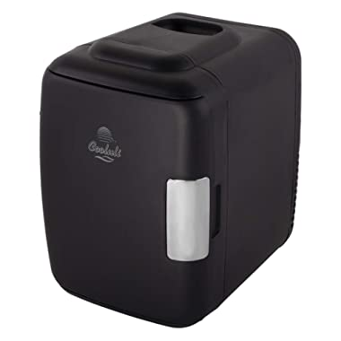 Cooluli Classic 4-liter Compact Cooler/Warmer Mini Fridge for Cars, Road Trips, Homes, Offices and Dorms (Black)