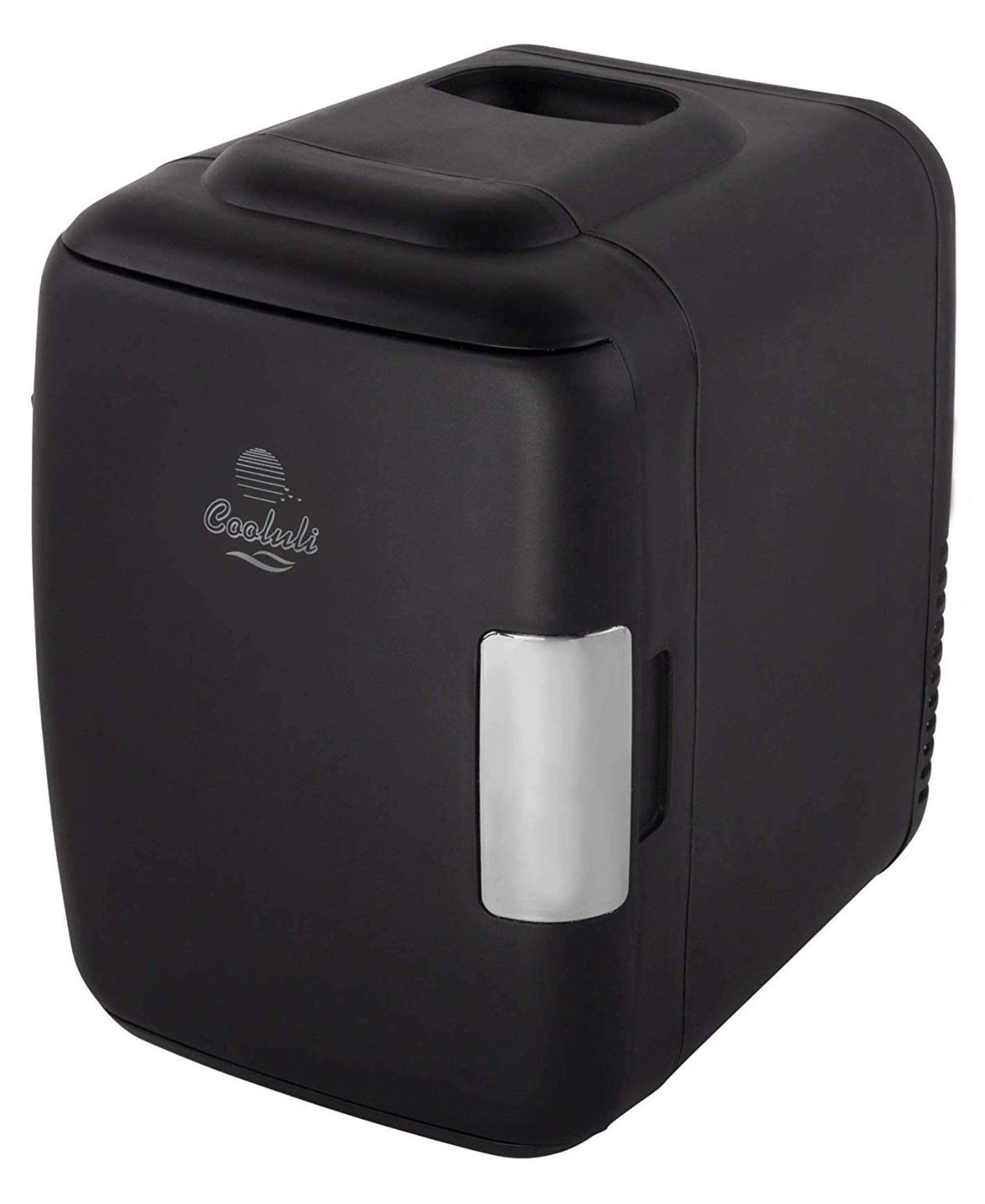 Beauty Shopping Cooluli Classic Black 4 Liter Compact Cooler Warmer Mini Fridge with AC/DC/USB Power