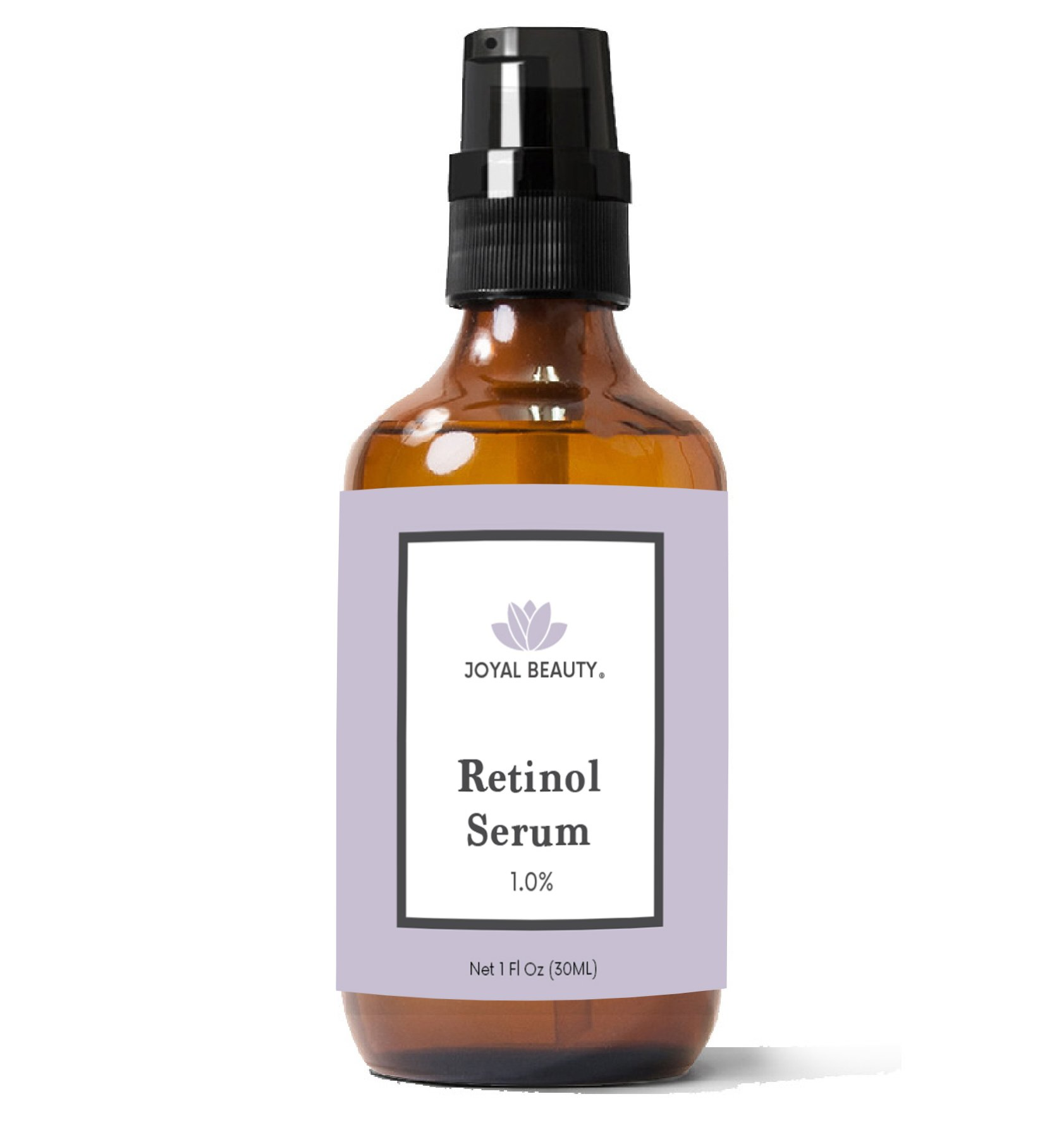 Joyal Beauty Organic Retinol Serum for Face Skin Eyes. Best for Anti-Aging Firming Fine Lines Anti Wrinkle Acne Pores. Advanced Night Serum for Men and Women. 1.0%. 1 oz.