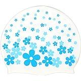 Moolecole Cute Cartoon Children Waterproof PU Swimming Cap Ear Cover Swim Cap With Elastic Kids Swimming Hat For Boys/Girls