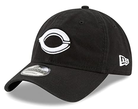 5fccbb25f4d75 Image Unavailable. Image not available for. Color  New Era Cincinnati Reds MLB  9Twenty Core Classic Twill Adjustable Black Hat