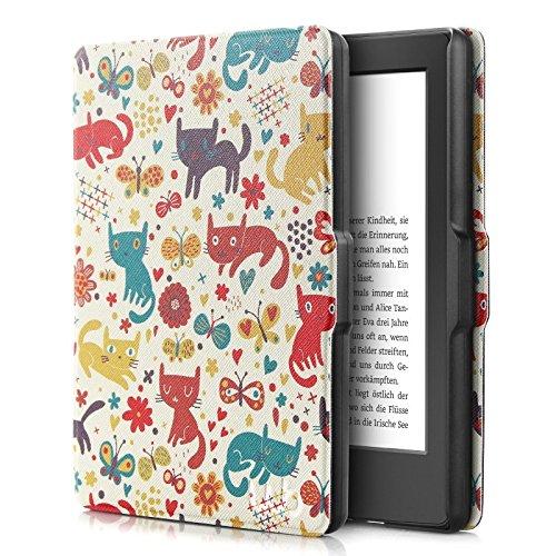 MOCA SmartShell Protective PU Leather Flip Cover for Amazon Kindle Paperwhite 6 inches  Multicolour