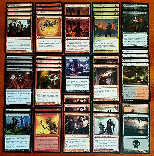 Magic Custom (Magic: The Gathering Modern Legal Vampire Black Red Custom Magic Deck)