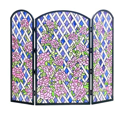 (Meyda Tiffany 35745 Rose Trellis Folding Fireplace Screen, 40