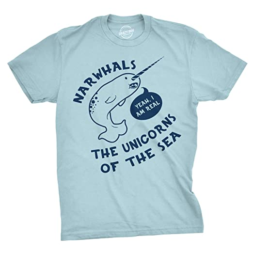 9a43be9f0 Funny Narwhals Yes I'm Real Unicorn of The Sea T Shirt Save The Narhwal