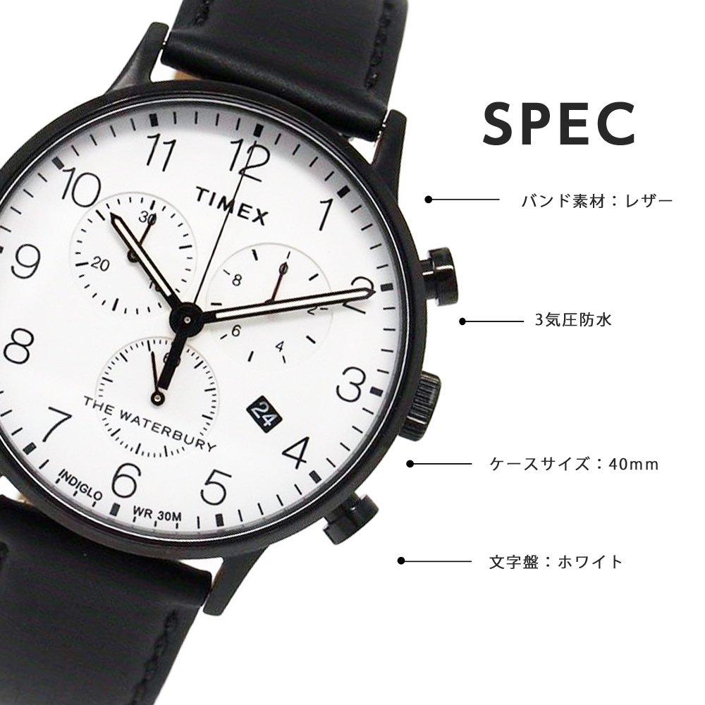 40mm Waterbury Tw2r72300 Timex Leather Chronograph Strap Classic Watch txsrQdhC