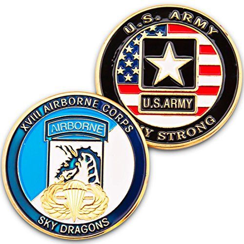 Art Crafter The USA Army XVIII Airborne Corps Challenge Coin Badge 18th Airborne Division A017J