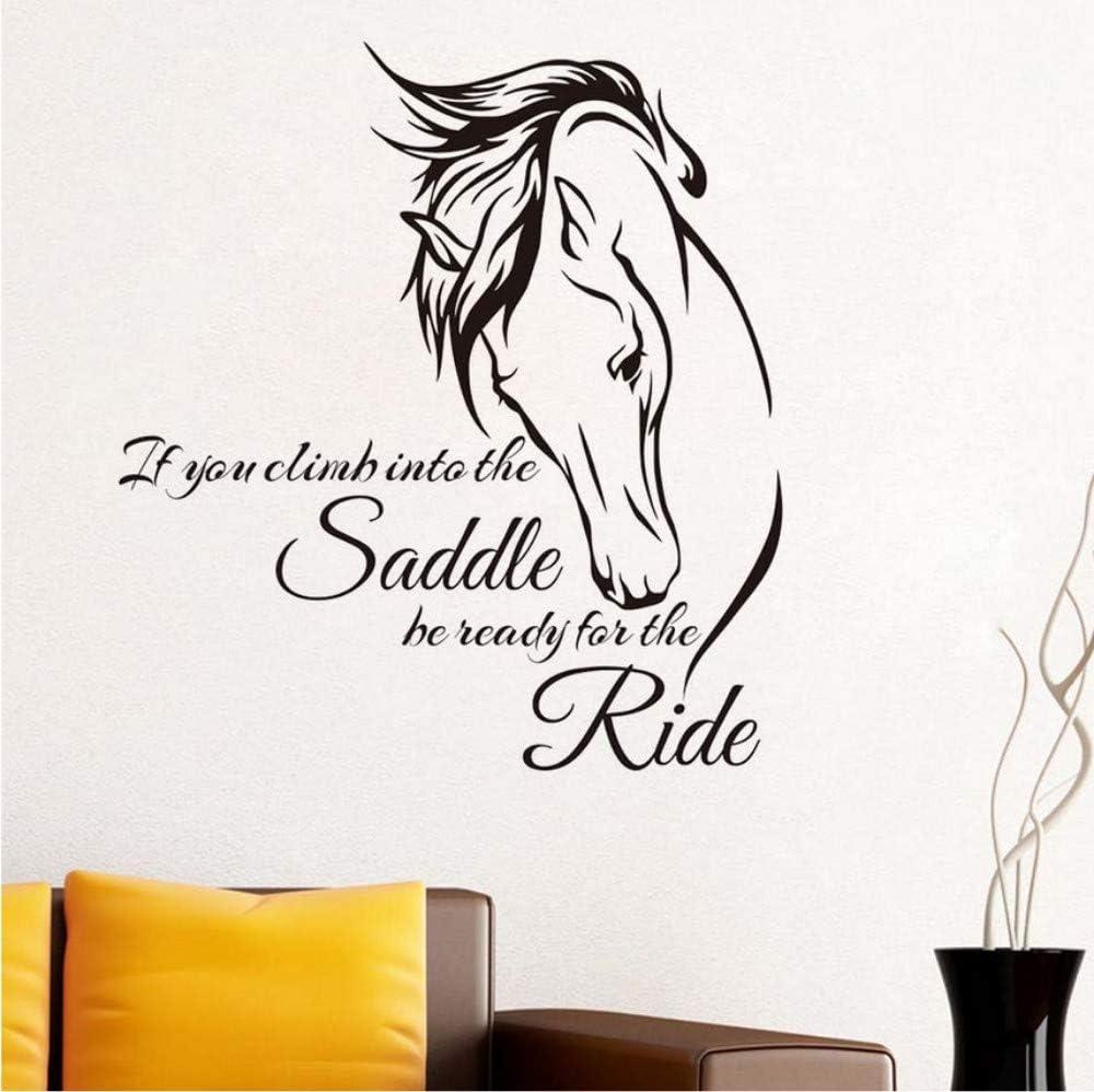 Si se sube a la silla de montar caballo pegatinas de pared para sala de estar decoración de la pared extraíble diy etiqueta de la pared decoración del hogar accesorios 48x44 cm