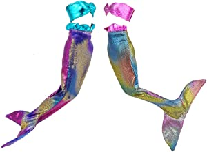 E-TING Handmade Mermaid Dress Fairy Tale Pearl Princess Clothing for Girl Doll (Pink and Blue)