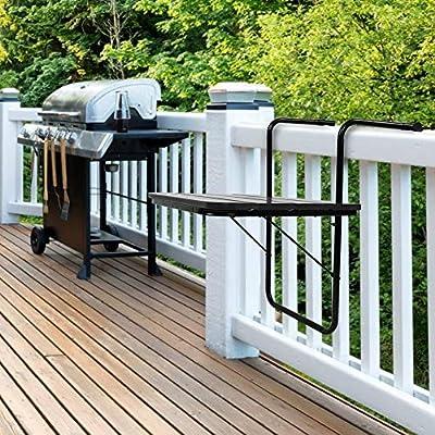 Greensen Mesa Colgante de Madera balcón, para Colgar, Plegable, para balcón, para Exteriores, Montaje en Pared, Mesa de balcón para Desayuno, balcón, jardín, Interior y Exterior: Amazon.es: Jardín