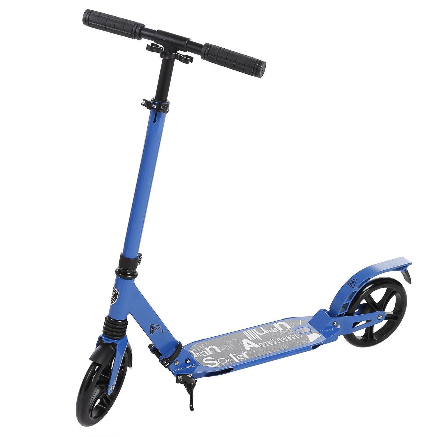FDegage 2 Wheel Adjustable Kick Scooter Folding City Urban Commuter Street Push Scooters for Adult Teens