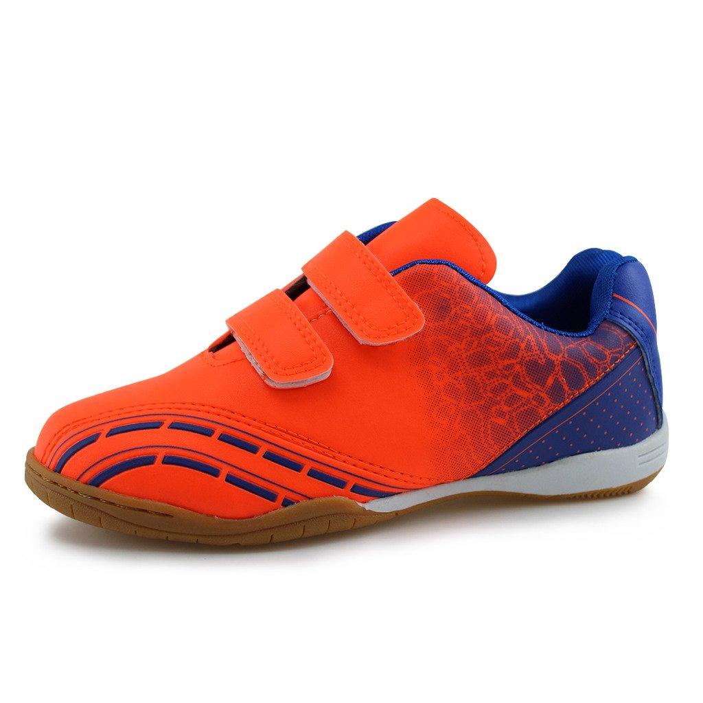 Hawkwell Athletic Outdoor/Indoor Comfortable Soccer Shoes(Toddler/Little Kid/Big Kid) (11 M US Little Kid, Orange)