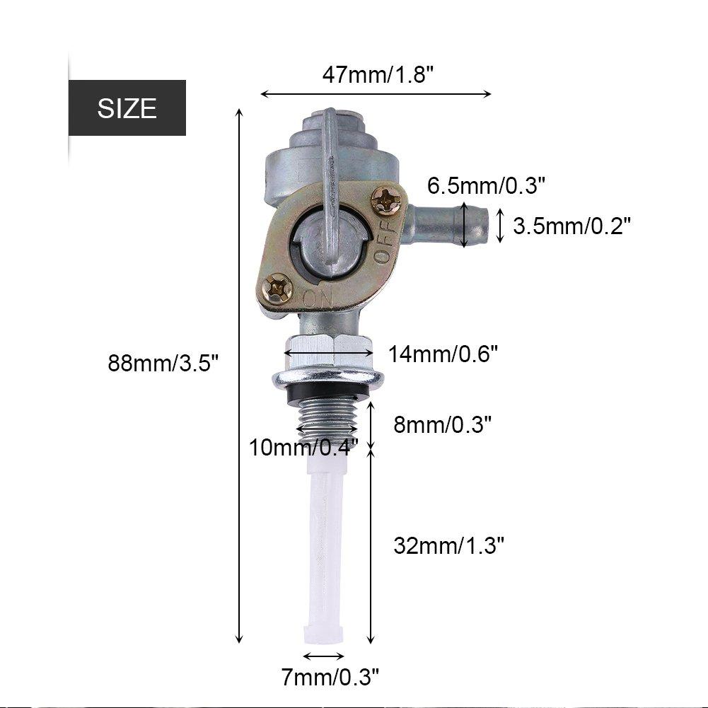 Cuque Universal Interruttore della valvola del carburante M10 1.25 Gas serbatoio carburante valvola pompa per Generatore a benzina