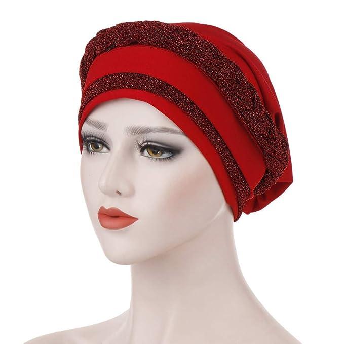 YEZIJIN Women Muslim Stretch Turban Hat Chemo Cap Hair Head Scarf Headwrap Shower Cap Summer Sun hat