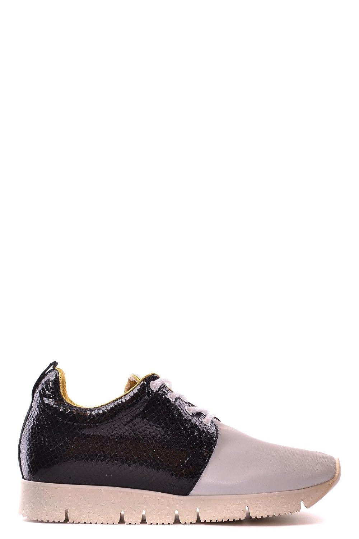 Leather Crown EZBC111003 Damen Schwarz Leder Turnschuhe