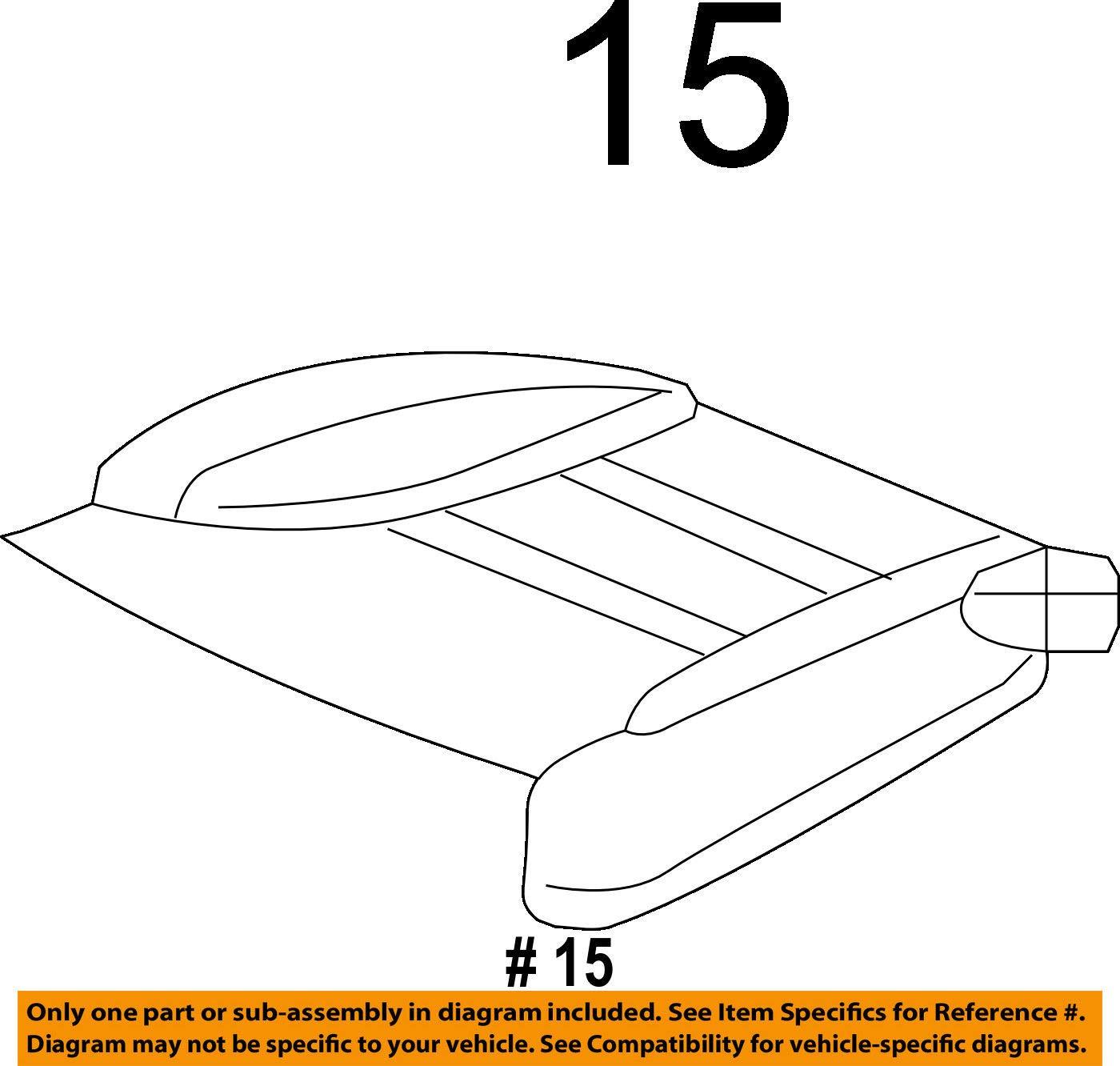 Honda Genuine 81531-TK8-A41ZB Seat Cushion Trim Cover Left Front