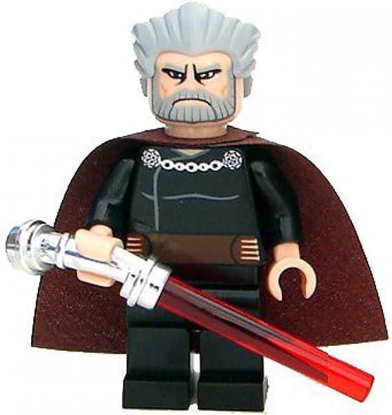 Chrome Silver Hilt Angled NEW LEGO Count Dooku Lightsaber Star Wars