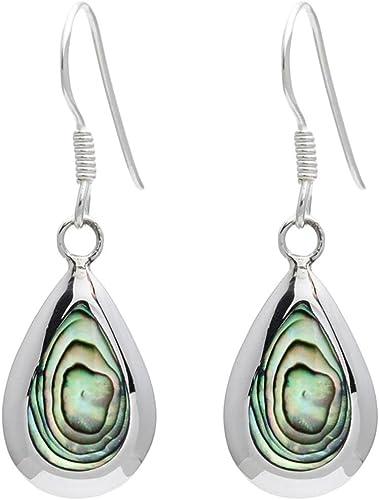 Blue Paua Earrings Sterling Silver. Beautiful TearDrop Stud Earrings