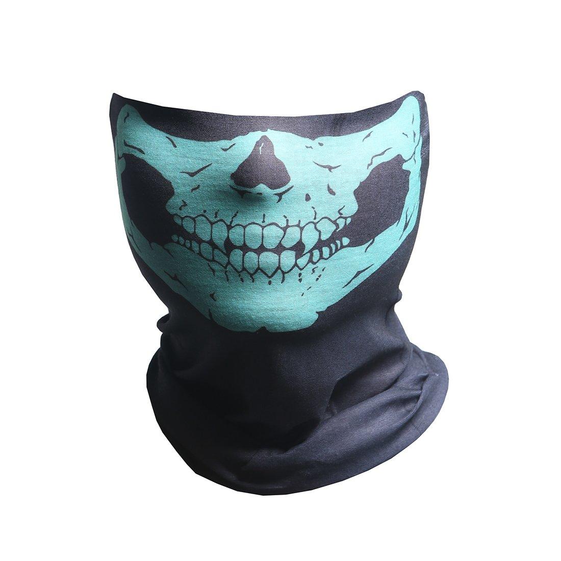 Skeleton Seamless Bandana, X Ray Skull Face Mask for Dust, Riding, Outdoors ZJDR-BK#22004