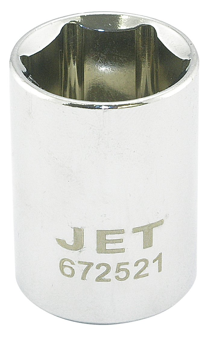 Jet 672515-1//2-Inch Drive Metric Chrome Socket Regular 15mm 6 Point