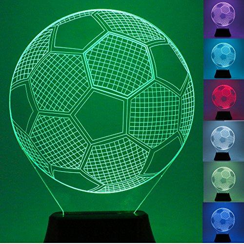USUN 3D Beleuchten LED 7 Farbe Fußball Fußball bulbing Illusion Nachtlicht Schreibtisch Tabellen Licht Lampe