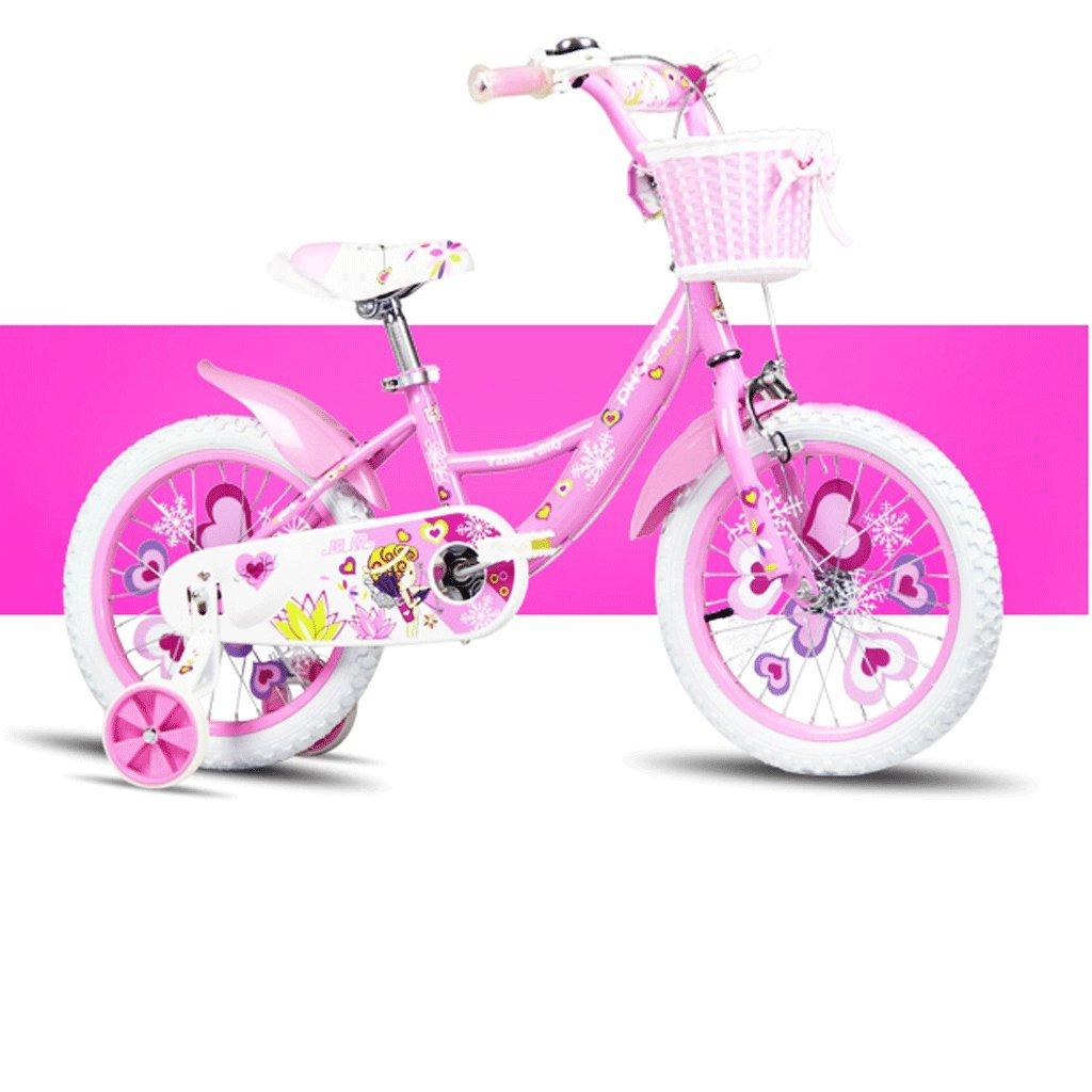 自転車 子供の自転車16/14/12/18インチの女の子の自転車2-3-6歳の赤ん坊の女の子のキャリッジ (サイズ さいず : 16inch) B07DPNFVM9 16inch 16inch