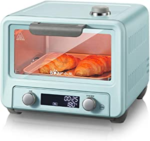 The Toaster |Steam Oven Toaster |12 Cooking Modes -Multi-function Stainless Steel Finish with Timer -Toast -Bake -Broil Settings,Includes Baking Pan and Rack,Toaster Oven,Countertop Oven (Blue)