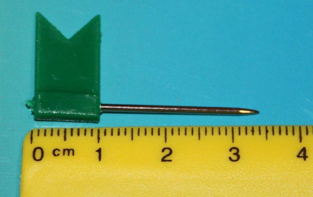 Spilli Bandiera Bandierine per Bacheca, carta ago 31mm 50pezzi verde Telliswelt