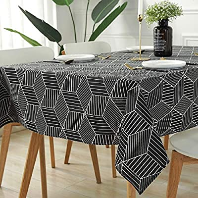Large Cotton Linen Rectangle Table Cover Cloth Wipe Clean Party Tablecloth Cover