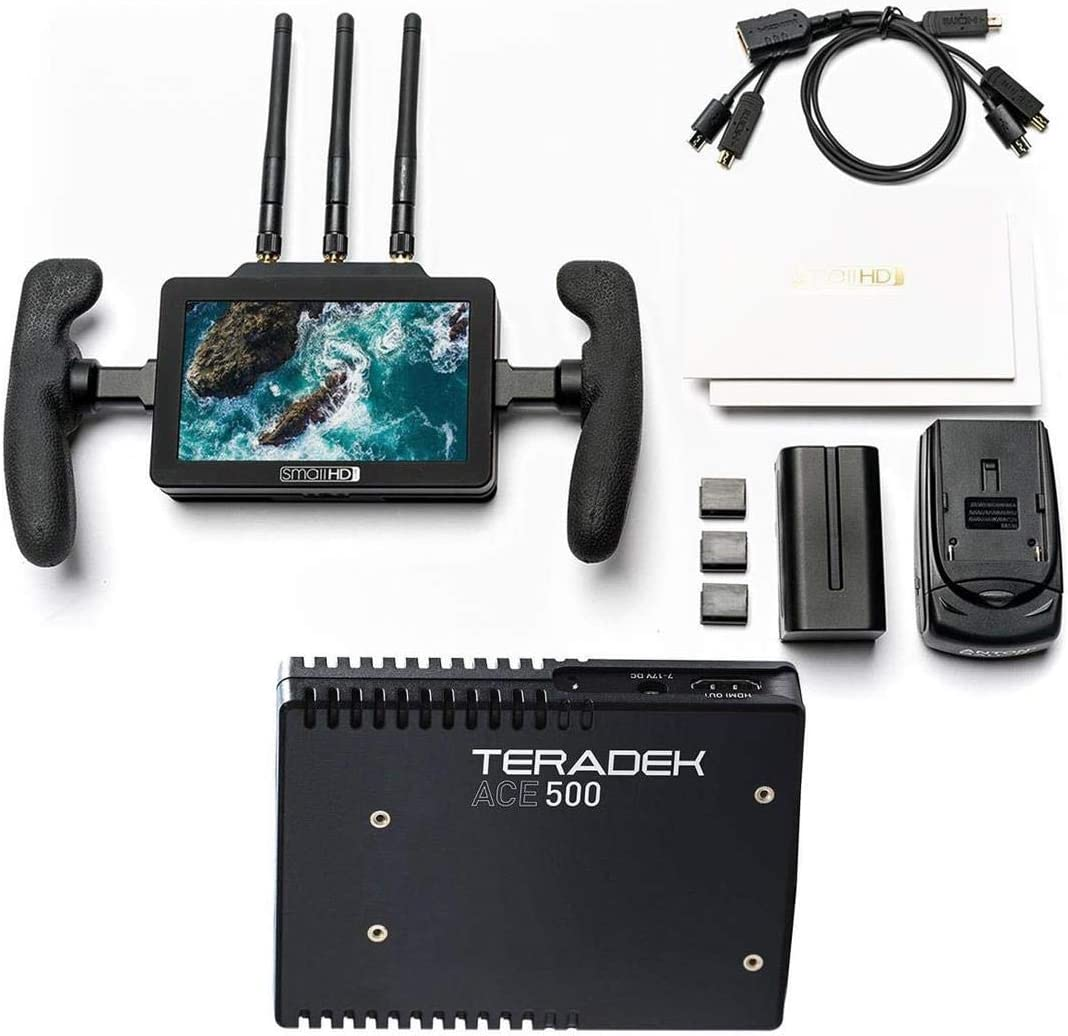 with Teradek ACE 500 HDMI Wireless Video Receiver SmallHD Focus Bolt 500 RX 5 Daylight Viewable Touchscreen Monitor with Built-in Teradek Receiver