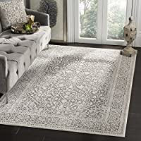 Safavieh Reflection Collection RFT670B Dark Grey and Cream Area Rug (3 x 5)