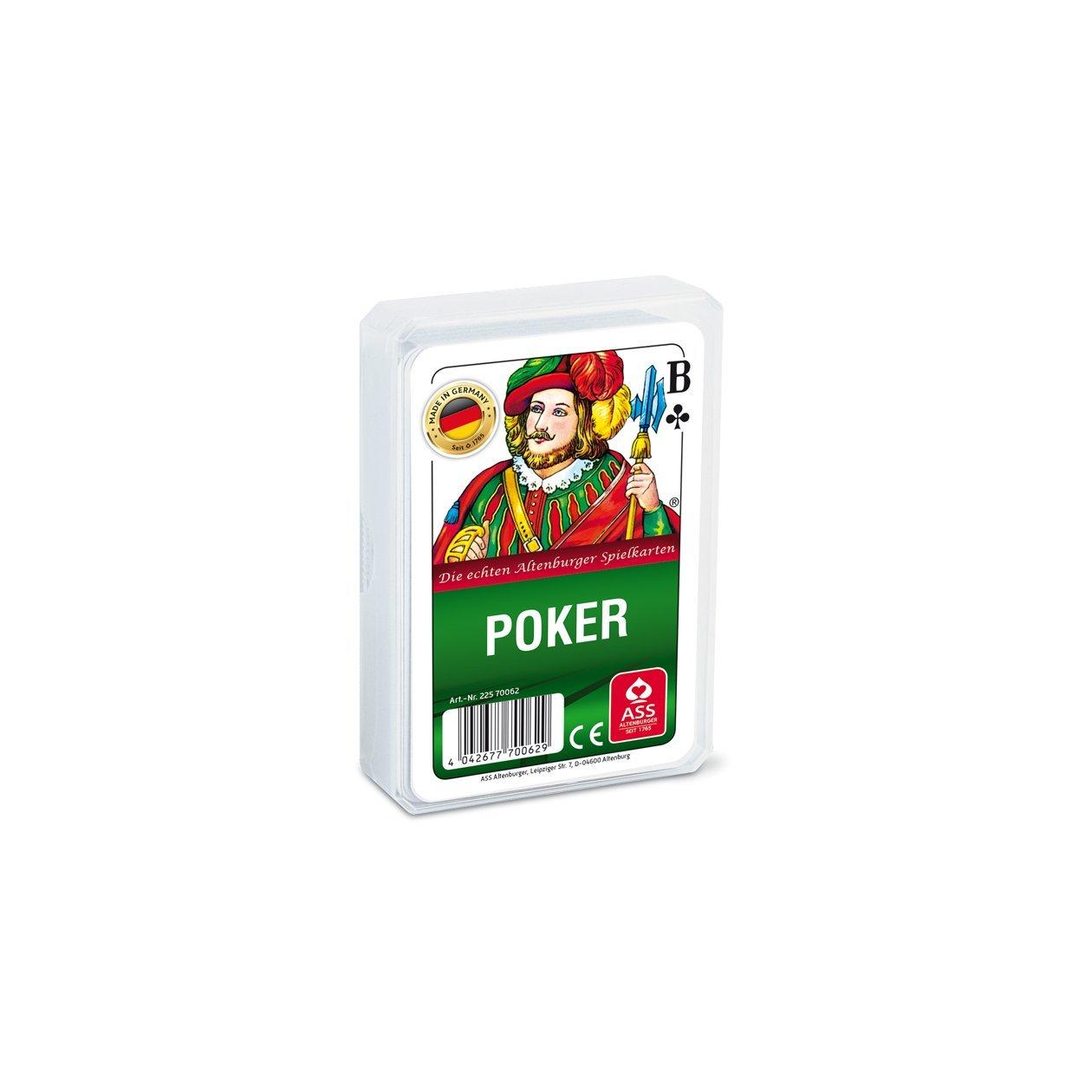 ASS Altenburger Spielkarten 70062 - Carte da poker con custodia in plastica [importato dalla Germania] 22570062