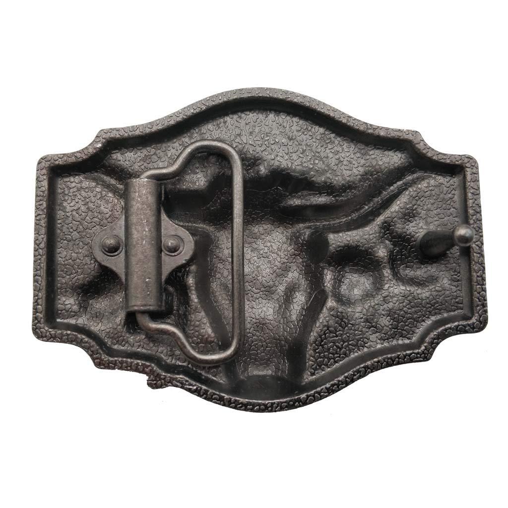 Longhorn Cowboy Cowgirl Bull Rodeo Western Texas Belt Buckle G/ürtelschnallen