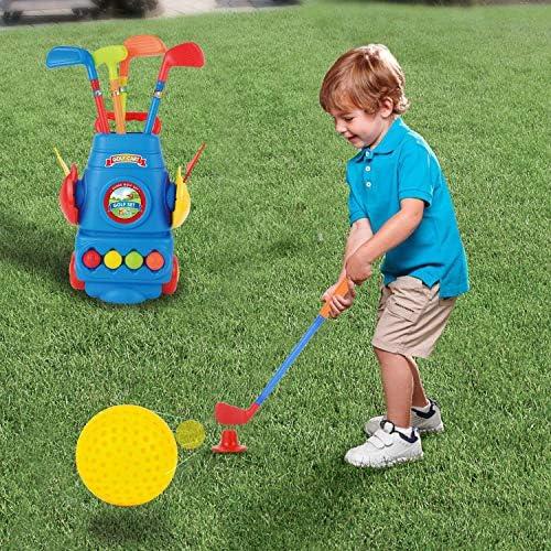 Golf Club Set Golf Cart With Wheels