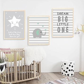 Spirworchlan 3er Set Kinderzimmer Poster Babyzimmer Ohne