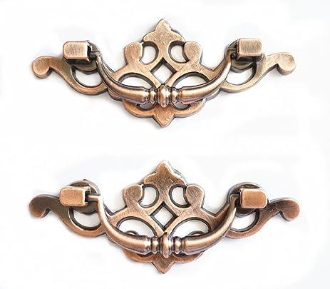 LBFEEL 2.5u0026quot; Drop Bail Dresser Drawer Pulls Handles Black Antique  Bronze Rustic Kitchen Cabinet Door