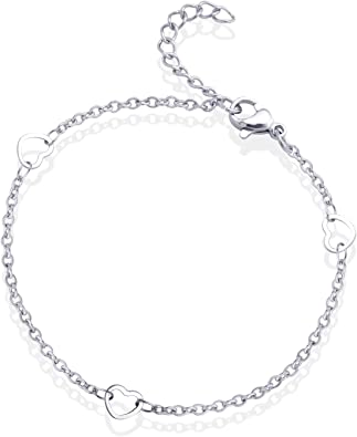 Ciyoon Charm Bracelets Fashion Jewelry Gift Stainless Steel for Women Girls for Love