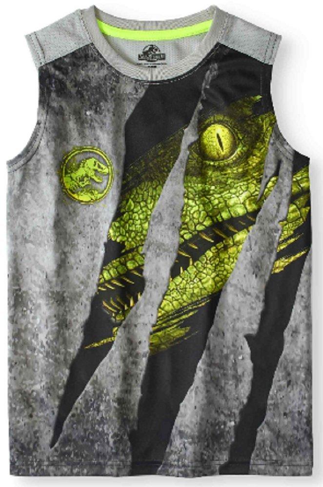 Fashion Boys Jurassic World Muscle Tank (X-Small 4/5)