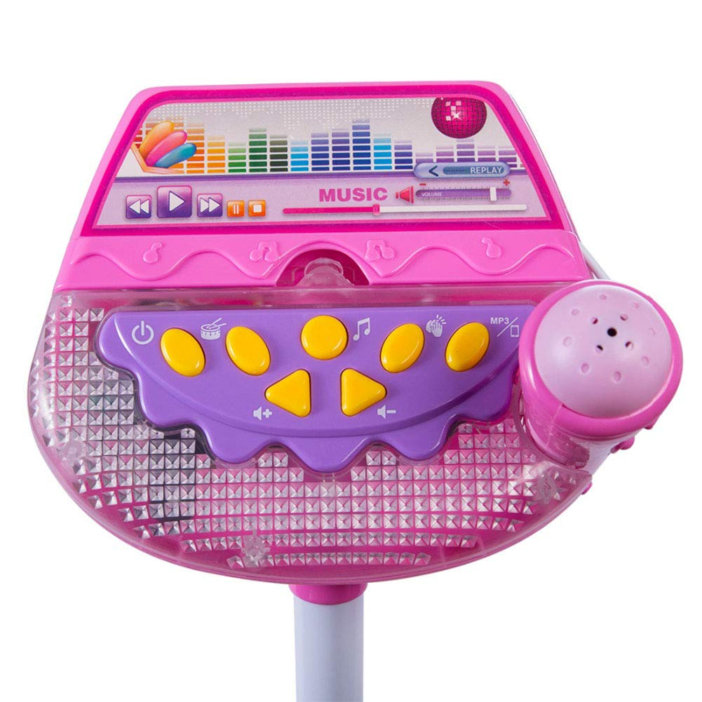Meiyiu Kids Standing Microphone Musical Toy Stand Up Karaoke Machine Sing Toy with MP3 Microphones Disco Flashing Lights Kid Funny by Meiyiu (Image #5)