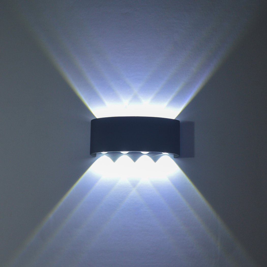 GGIENRUI Modern Wall Sconce Lights 8W LED Room Wall Lights Up Down Aluminium Wall Lighting Lamps for Living Room Bedroom Corridor