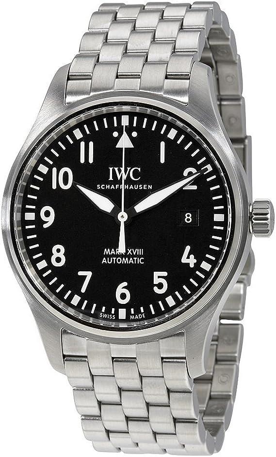 Iwc da uomo 40 mm con cinturino e cassa in acciaio vetro zaffiro automatico orologio analogico iw327011