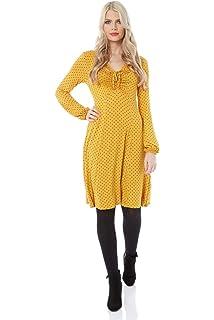 349a93f5be5b Roman Originals Women Polka Dot Tea Dress - Ladies Smart Casual Autumn  Winter V-Neck