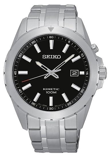 Seiko Kinetic para hombre-reloj analógico de cuarzo de acero inoxidable SKA697P1: Amazon.es: Relojes