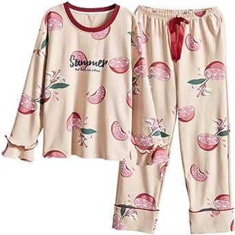 Pijamas para Mujer, Conjunto De Pijama Algodón para Mujer con ...