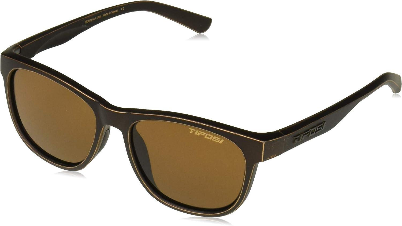 Tifosi Optics Swank偏光サングラスアンティーク調ブロンズ/ブラウン偏光、1サイズ