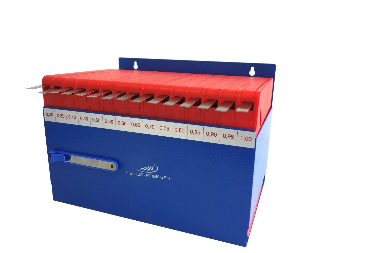 HELIOS-PREISSER Fü hlerlehrenband-Set im Wandhalter 15-teilig, 0,30-1,00 mm, 0611190