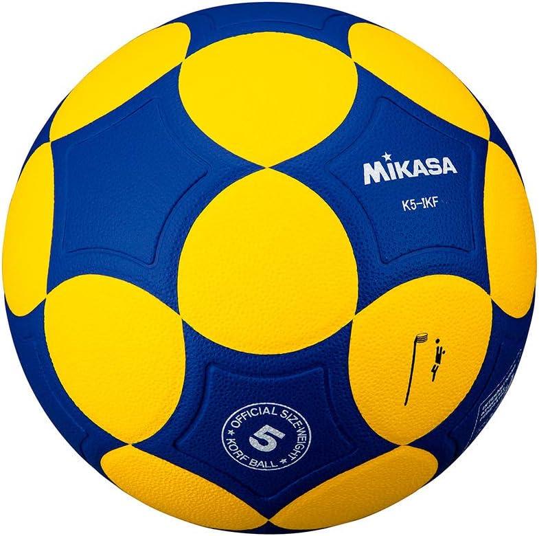 MIKASA Korfball K5-IKF - Pelota de Baloncesto, Color Amarillo/Azul ...
