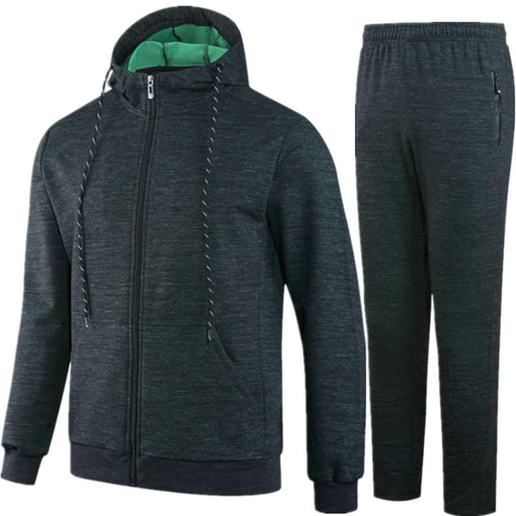Lilongjiao Frühling und Herbst Winter Herren Sportswear Laufen Fitness Baumwolle Casual Sportswear Set Zweiteiliges Set
