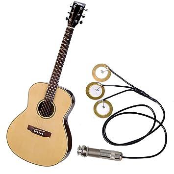 monoff Guitarra acústica Pickup etiqueta electrónicos acústica ...
