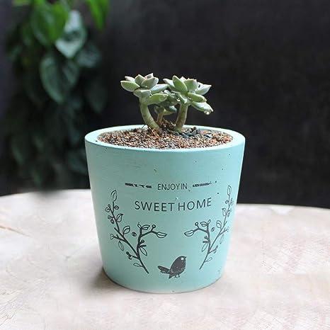 Better Way Concrete Planter Shabby Chic Flowerpots Garden Planters Cement  Orchid Plant Pot Autumn Season